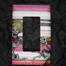 Single Switch Plate Cover, Flat, Day of the Dead Couple with Stripped Background
