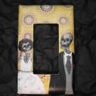Single Switch Plate Cover, Flat, Day of the Dead Wedding Couple