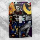 Single Switch Plate Cover, Day of the Dead Dancing Couple with Colorful Background