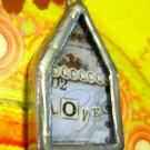 "The House that ""Love"" Built Charm, Necklace Pendant"