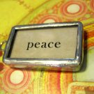 """Peace"" Flashcard Charm, Necklace Pendant"