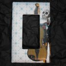 Single Switch Plate Cover, Flat, Day of the Dead Man Playing Stand Up Bass
