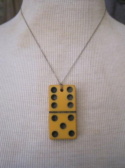 Vintage Yellow 6/5 Domino Necklace
