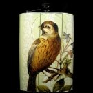 Stainless Steel Flask - 8oz., Bird on Cream Colored Background