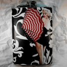 Stainless Steel Flask - 8oz., Marilyn Monroe with Umbrella