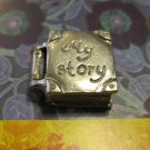 "Silver Book Charm ""My Story"", Really Opens, Heart and Cupid Inside"