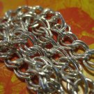 Real Silver Chain Link Bracelet, Heart Charm on Clasp