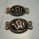 Set of 2 Black and Silver Snake Charms