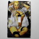 Single Switch Plate Cover, Pin Up Girl with Black Background