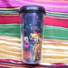 Travel Mug, Day of the Dead Couple Dark Background