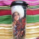 Travel Mug, Senorita Cowgirl with Flowers