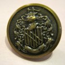 Brass Colored Button Shield, Knight, Ship, and Banner