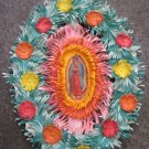 Hand Cut Paper Ornament with Double Virgin Mary Pictures