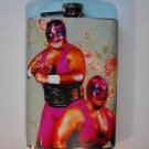 Stainless Steel Flask - 8oz., Pair of Lucha Libre Men