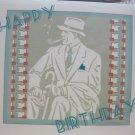"""Happy Birthday"" Retro Print Birthday Card"