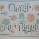 """Happy Anniversary, Here's to Us"", Retro Print Anniversary Card"