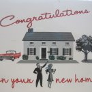 """Congratulations on Your New Home"" Retro Print New House Card"