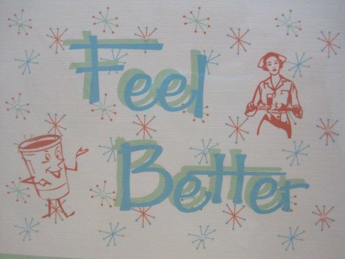 """Feel Better"" Retro Print Get Well Card"