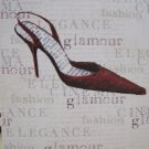 Shoe Print Blank Card