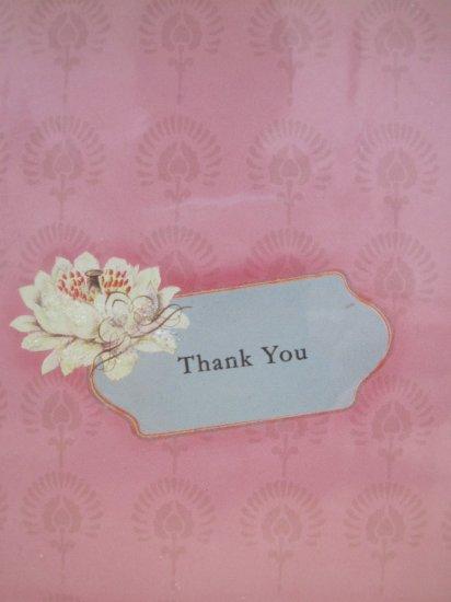 Thank You Blank Card Lotus Design