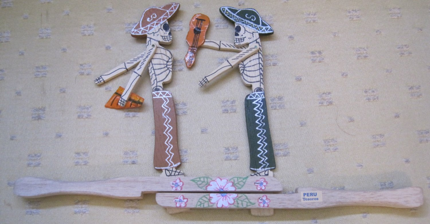 Day of the Dead Wooden Fighters