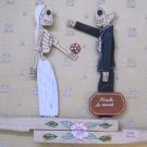 Day of the Dead Bride and Groom Wooden Fighters