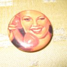Pin Up Girl on Phone Little Button/Pin