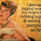 """I Gave Up Jogging . . . "" Square Magnet"