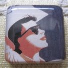 Vintage Cowgirl in Sunglasses Square Magnet