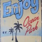 """Enjoy Ocean Park"" Square Magnet"