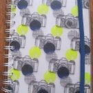 Blue and Yellow Camera Print Picture Holder and Journal