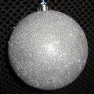Silver Sparkle Ball Ornament