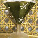 Green Glass Martini Photo Holder