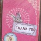 Beautiful Bird Print Post Card Set, 18 Post Cards