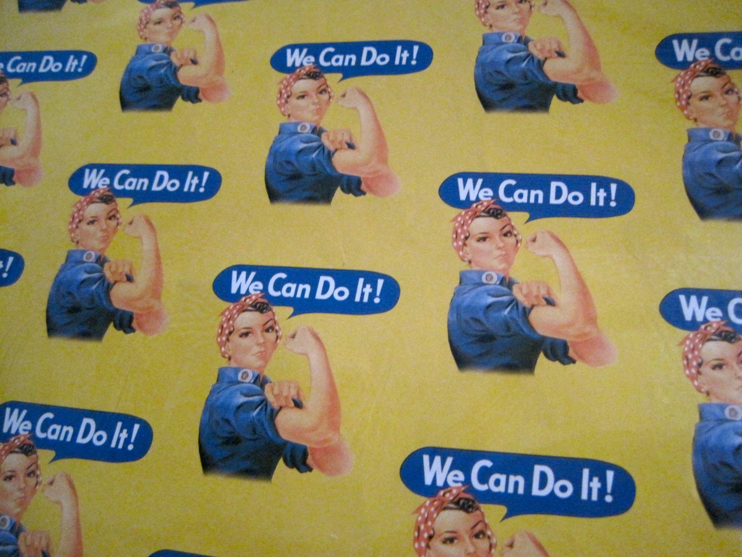 Rosie the Riveter Print Wrapping Paper