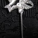 Silver Colored Metal Humming Bird Earring Holder and Display