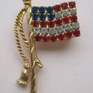 American Flag with Gold Stand Pin