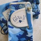 """Glove It"", Golf Glove, Marker, and Bag, Blue Camouflage Print"