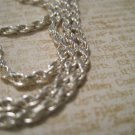 Real Silver Snake Chain Necklace, 24""