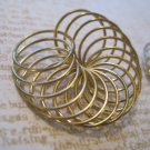 Set of 2 Gold Tone Coils, Jewelry Finding