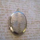 Small, Silver Zig Zag Lined Locket Pendant