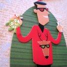 Holiday Hipster, Holiday Gift Tag, Red Ribbon