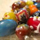 Beautiful Glass Beads from Italy, Key Chain Ring