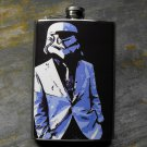 Stainless Steel Flask - 8oz., Storm Trooper in White Suite Jacket