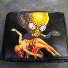 Hand Decorated Wallet, Alien Holding Woman Print