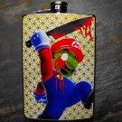 Stainless Steel Flask - 8oz., Killer Zombie Mario Print