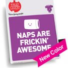 """""""Naps Are Freakin Awesome"""" Purple Onesie, Size 0-6 Mo"""