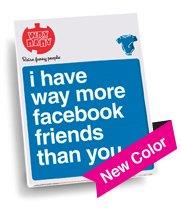 """Way More Facebook Friends"" Blue Onesie, Size 6-12 Mo"