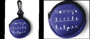 """Mommy's Little Helper"" Clip on Zipper Pacifier Holder"
