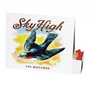 """Sky High"" Bird Print, Box of Matches"